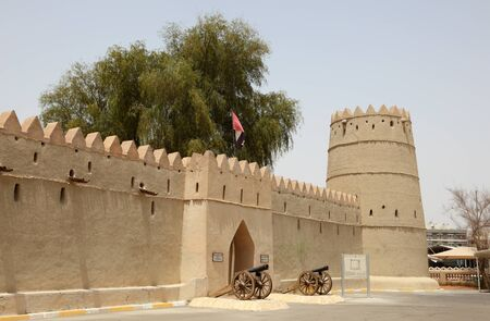 united arab emirate: Sultan bin Zayed Fort in Al Ain, Emirate of Abu Dhabi, United Arab Emirates