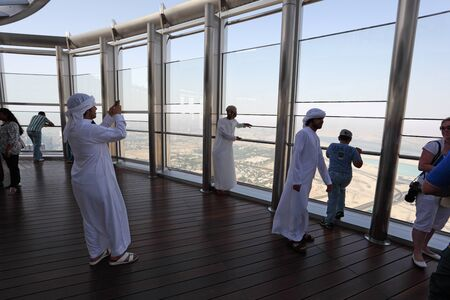 At The Top - the observation deck of Burj Khalifa, Dubai United Arab Emirates. Photo taken at 31st of Mai 2011