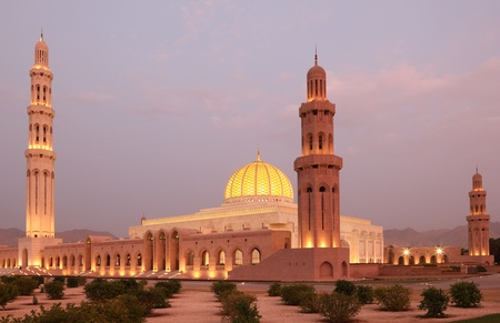 Sultan Qaboos Grand Moschea in Muscat, Oman