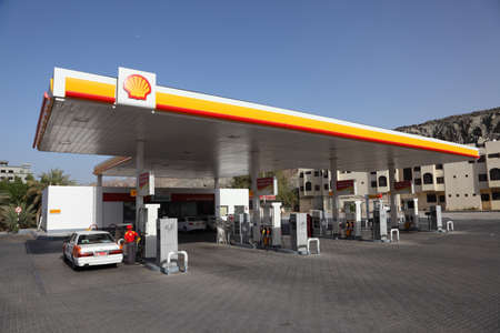 Shell petrol station in Muttrah, Muscat Sultanate of Oman. Photo taken at 11th of June 2011 Stock Photo - 9890231