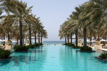 Swimming pool of the Al Bustan hotel in Muscat, Oman. Photo taken at 10th of June 2011