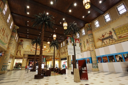 The Egypt court of the Ibn Battuta Mall in Dubai, United Arab Emirates. Photo taken at 29th of Mai 2011 Editorial