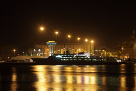 muttrah: Sultan Qaboos Port in Muscat at night. Photo taken at 9th of June 2011