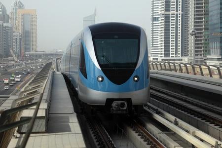 Verenigde Arabische Emiraten: Metro Trein in Dubai, Verenigde Arabische Emiraten