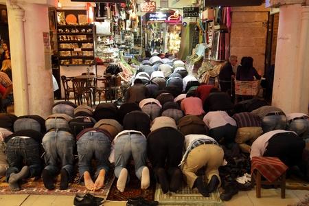 Praying muslims in Istanbul, Turkey. Photo taken at 20th of Mai 2011