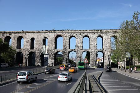 Aqueduct of Valens in Istanbul, Turkey. Photo taken at 22nd of Mai 2011 Editorial