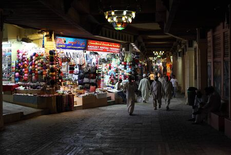 muttrah: Souk in Muscat at night, Sultanate of Oman. Photo taken at 11th of June 2011