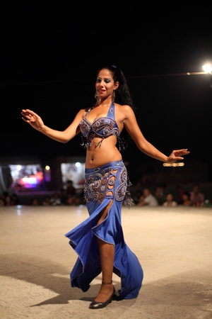 perfomance: Egyptian belly dancer in Dubai, United Arab Emirates. Photo taken at 6th of June 2011
