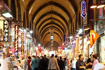 Inside of the Grand Bazaar in Istanbul, Turkey. Photo taken at 20th of Mai 2011 Editorial