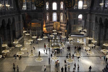 Inside of the Hagia Sophia Mosque in Istanbul, Turkey. Photo taken on 21st of Mai 2011
