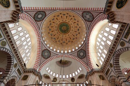 camii: Cupola of the Suleymaniye mosque in Istanbul, Turkey