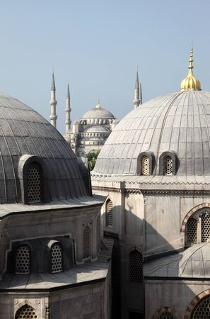 camii: Sultan Ahmed Mosque (Blue Mosque) in Istanbul, Turkey Stock Photo
