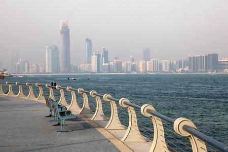 handrails: Corniche in Abu Dhabi, United Arab Emirates
