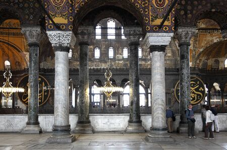 Inside of the Hagia Sophia Mosque in Istanbul, Turkey. Photo taken on 21st of Mai 2011 Stock Photo - 10290391