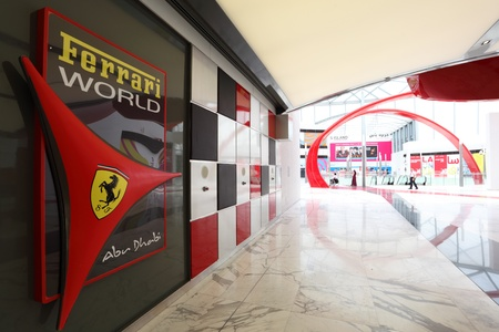 Ferrari World Theme Park in Abu Dhabi, United Arab Emirates. Photo taken at 1st of June 2011 Editorial