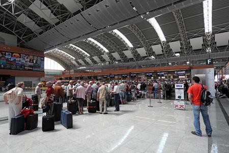 Sabiha Gokcen International Airport in Istanbul, Turkey. Photo taken at 26th of Mai 2011 Editorial