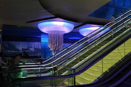 Khalid Bin Al Waleed metro station in Dubai, United Arab Emirates. Photo taken at 27th of Mai 2011 Stock Photo - 10404000