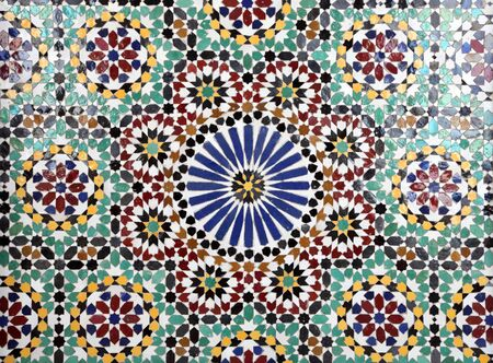 Oriental mosaic in a mosque, Sultanate of Oman Stock Photo - 10456847