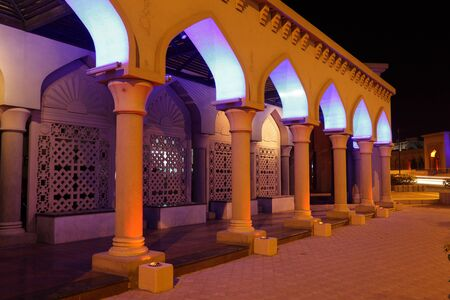 muttrah: Archway illuminated at night, Muscat Sultanate of Oman