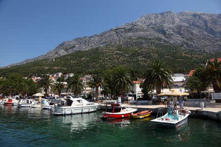 dalmatia: Adriatic Resort Brela, Croatia. Photo taken at 11th of July 2011 Editorial