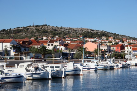 murter: Marina in the Croatian town Murter Stock Photo