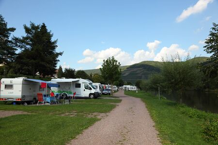 Camp site at the Mosel river, Germany. Photo taken at 3rd September 2011