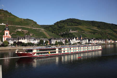 Town Zell at the Mosel river in Germany
