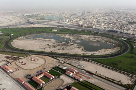 Aerial view of a Horse Race Track in Dubai Stock Photo - 10558731