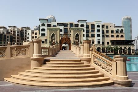 mall of the emirates: Bridge to Souk Al Bahar near Dubai Mall, United Arab Emirates. Photo taken at 29th of Mai 2011