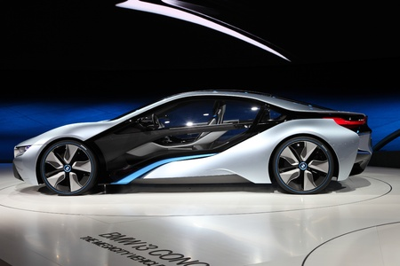 FRANKFURT - SEPT 24: BMW electric concept car i8 at the 64th IAA (Internationale Automobil Ausstellung) on September 24, 2011 in Frankfurt, Germany