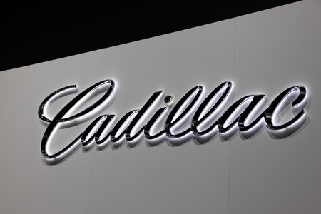 FRANKFURT - SEPT 24: The Cadillac Company Logo at the 64th IAA (Internationale Automobil Ausstellung) on September 24, 2011 in Frankfurt, Germany Stock Photo - 10678251