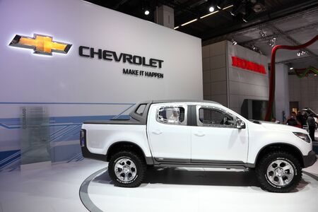 iaa: FRANKFURT - SEPT 24: The Chevrolet Offroad Pickup Truck Colorado at the 64th IAA (Internationale Automobil Ausstellung) on September 24, 2011 in Frankfurt, Germany