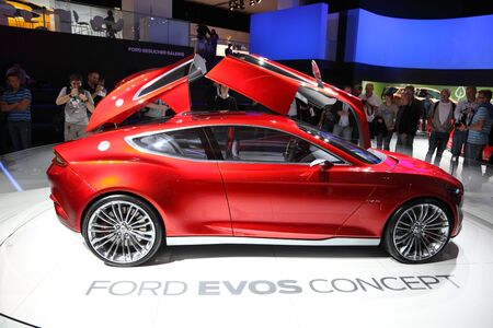 64th iaa: FRANKFURT - SEPT 24: The Ford Concept Car EVOS at the 64th IAA (Internationale Automobil Ausstellung) on September 24, 2011 in Frankfurt, Germany