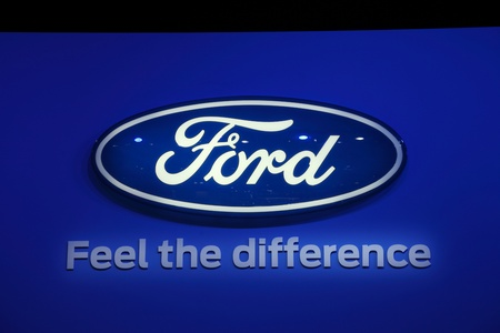 64th iaa: FRANKFURT - SEPT 24: The Ford Company Logo at the 64th IAA (Internationale Automobil Ausstellung) on September 24, 2011 in Frankfurt, Germany Editorial