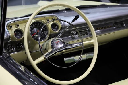 64th iaa: FRANKFURT - SEPT 24: Dashboard of the old Chevrolet Belair shown at the 64th IAA (Internationale Automobil Ausstellung) on September 24, 2011 in Frankfurt, Germany