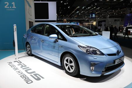 FRANKFURT - SEPT 24: Toyota Prius Plug-in Hybrid at the 64th IAA (Internationale Automobil Ausstellung) on September 24, 2011 in Frankfurt, Germany