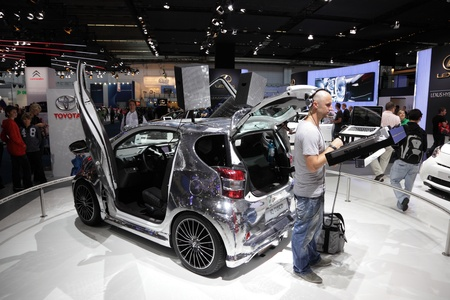 iq: FRANKFURT - SEPT 24: The Toyota IQ Disco at the 64th IAA (Internationale Automobil Ausstellung) on September 24, 2011 in Frankfurt, Germany Editorial