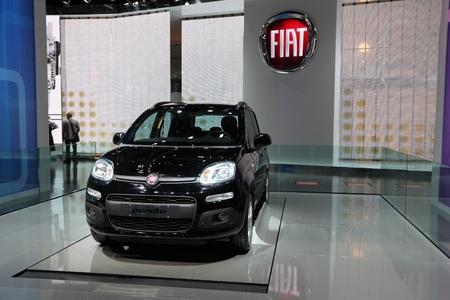 64th iaa: FRANKFURT - SEPT 24: The New Fiat Panda at the 64th IAA (Internationale Automobil Ausstellung) on September 24, 2011 in Frankfurt, Germany