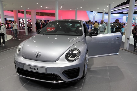 FRANKFURT - SEPT 24: The New VW Beetle R at the 64th IAA (Internationale Automobil Ausstellung) on September 24, 2011 in Frankfurt, Germany