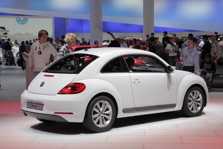 64th iaa: FRANKFURT - SEPT 24: The New VW Beetle at the 64th IAA (Internationale Automobil Ausstellung) on September 24, 2011 in Frankfurt, Germany