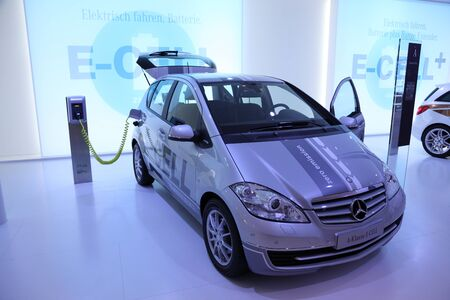 64th iaa: FRANKFURT - SEPT 24: Mercedes Benz A-Class E-Cell electric car at the 64th IAA (Internationale Automobil Ausstellung) on September 24, 2011 in Frankfurt, Germany