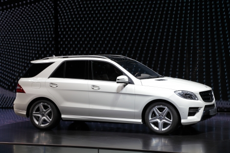 FRANKFURT - SEPT 24: Mercedes Benz M-Class SUV at the 64th IAA (Internationale Automobil Ausstellung) on September 24, 2011 in Frankfurt, Germany