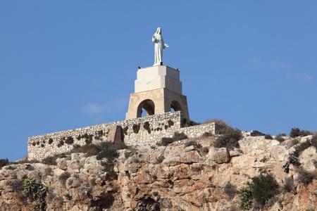 christus: The statue of San Cristobal in the Alcazaba of Almeria, Spain