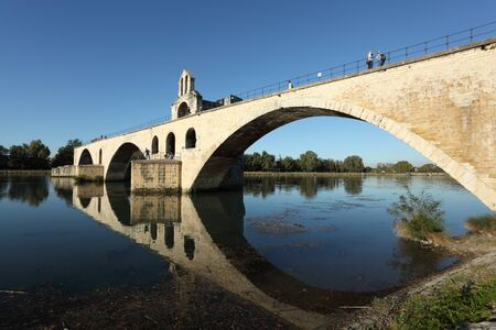Pont dAvignon - the famous medieval bridge in Avignon, France. Photo taken at 26th of October 2011 Editorial