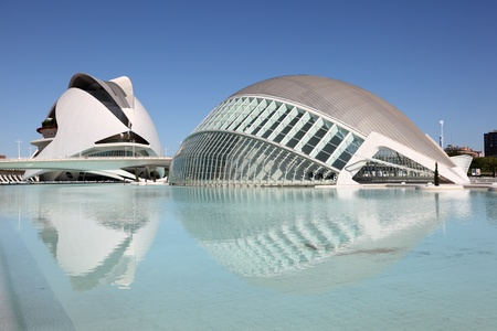 City of Arts and Sciences in Valencia, Spain. Photo taken at 9th of October 2011 Editorial