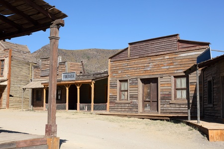 an inn: An old American western style town Editorial