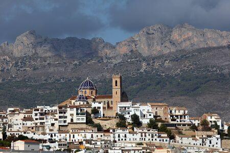 altea: View of the Mediterranean resort Altea, Spain