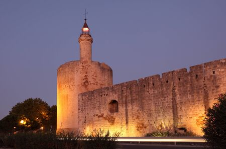 ramparts: Ramparts of the medieval town Aigues-Mortes, France