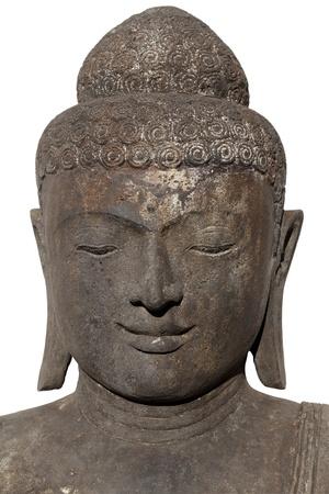 Portrait of a black buddha isolated over white background Stock Photo - 11299488