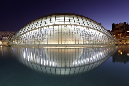 City of Arts and Sciences in Valencia, Spain. Photo taken at 8th of October 2011 Editorial